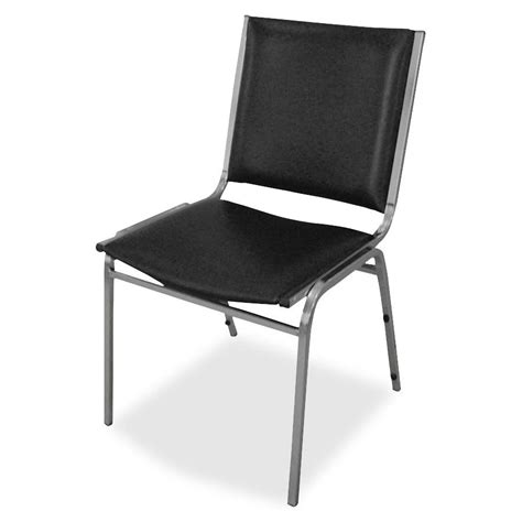 Stacking Chair by Lorell Padded Armless Stacking Chair