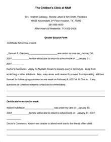 Self Certificate Sick Note Template 22 Doctors Note Templates Free Sample Example Format