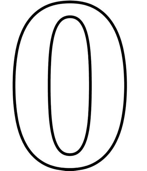 Number 0 Coloring Page Getcoloringpages Com Number 0 Coloring Pages