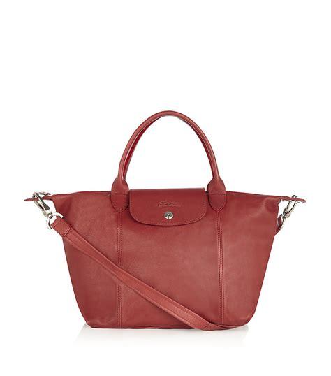 Longch Cuir Small 11 longch le pliage cuir small handbag in terracotta lyst