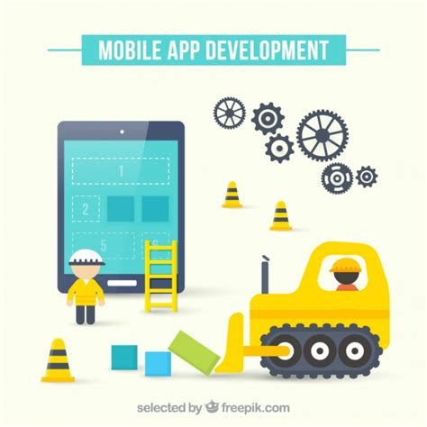 application design vector mobile app development vector free download