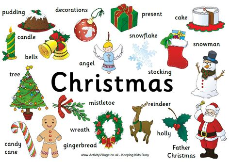 my english class christmas vocabulary for your compositions