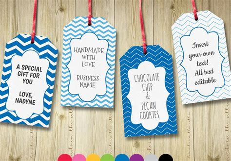 Editable Gift Tags Gift Tag Template Text By Handsintheattic Gift Tag Template Editable