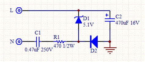 calculation of capacitor in power supply transformerless ac to dc power supply
