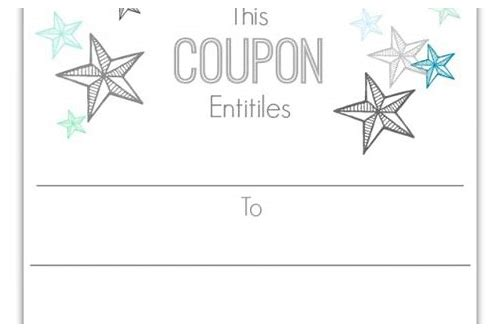 make your own printable gift coupons