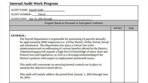 7 Audit Program Sles Templates Sle Templates Audit Program Template