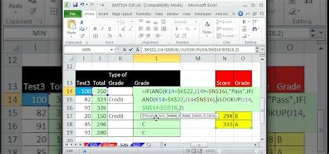 format fail microsoft excel 2007 how to create a pass fail grade formula in microsoft excel