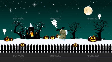 halloween layout for twitter 6 mobile game backgrounds by s n k graphicriver