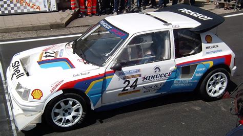 peugeot 205 group b peugeot 205 turbo 16 group b wrc 205 t16 rally car sound