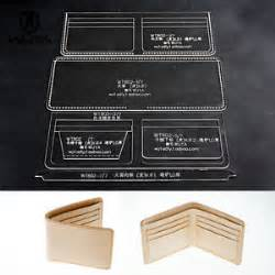leather wallet template wallet acrylic leather template diy pattern for