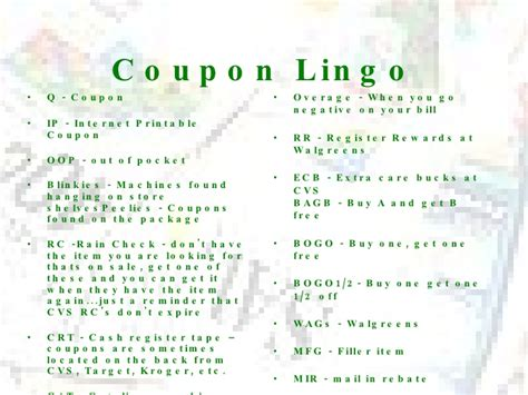 crt coupon lingo