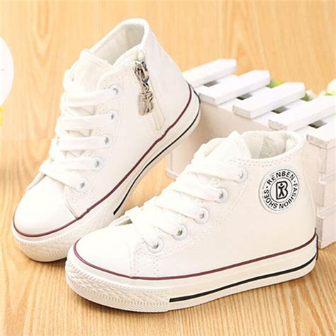 white kid shoes shoes for children canvas shoes boys sneakers
