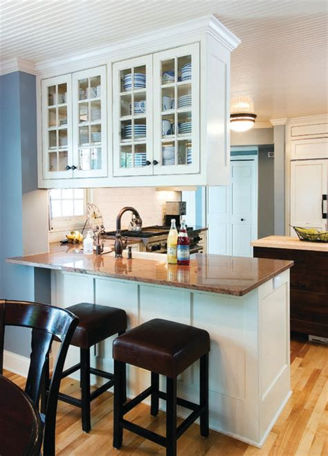 Above Kitchen Cabinet Decorating Ideas by Kitchen Peninsula With Bar Seating