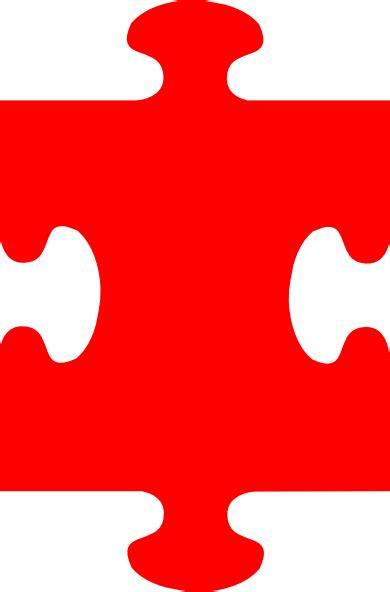 puzzle piece red clip art  clkercom vector clip art