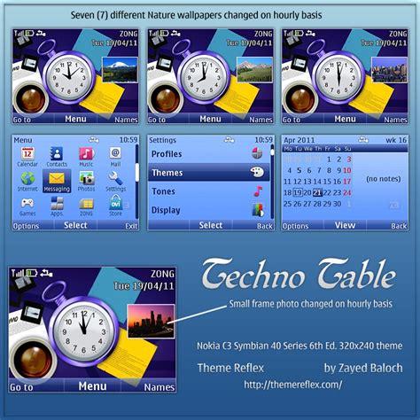 themes nokia asha 210 nth techno table theme for nokia c3 x2 01 themereflex