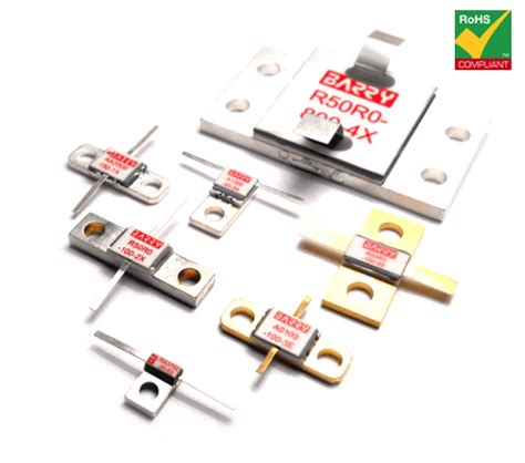barry industries flanged high power rf resistors