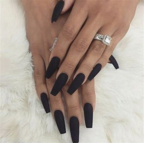 Black Nail by Nail Heaven On Coffin Nails Black And Makeup