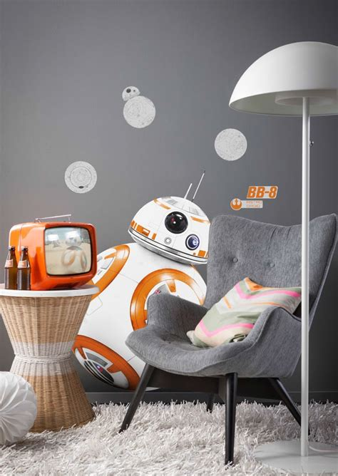 Wall Decor Stickers Quotes stickers muraux star wars droide bb 8 disney komar so nuit