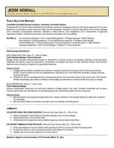 pr resume template this free sle was provided by aspirationsresume