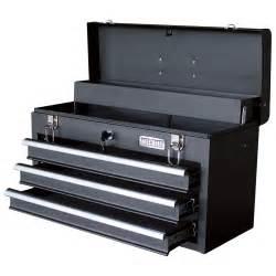 wel bilt 20in 3 drawer portable steel toolbox tool