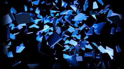 wallpaper blue cube blau schwarz explosionen leuchten farben scheiben cube