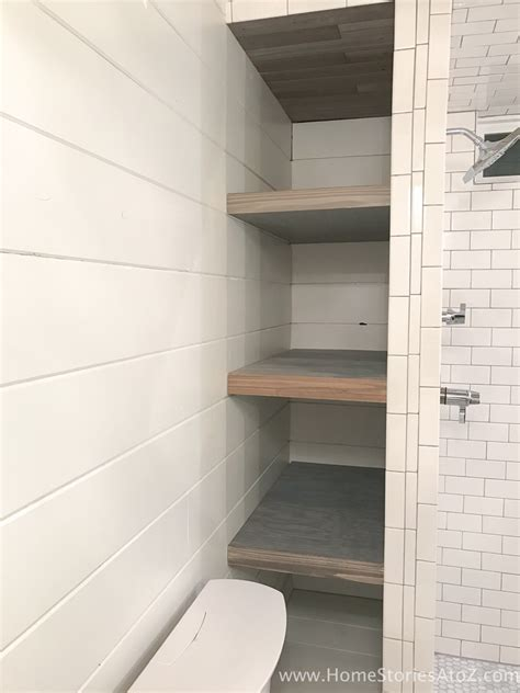 What To Put On Bathroom Shelves How To Build Bathroom Shelves Next To Shower