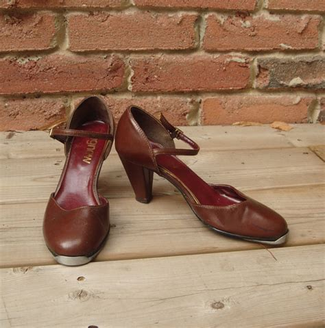 items similar to brown leather high heeled tap shoes on etsy
