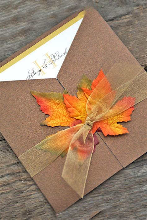 Wedding Invitations Fall Theme by Fall Wedding Invitations With Brilliant Colors Of Autumn