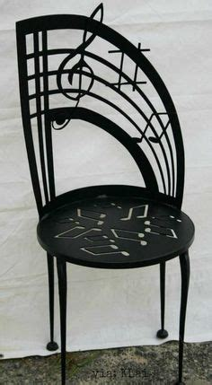 music themed furniture how fun the back of the chair even looks like it would
