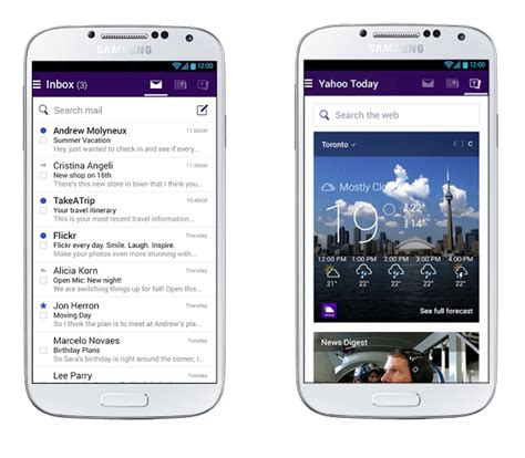 mail yahoo mobile yahoo s new mail app look beyond the inbox to increase