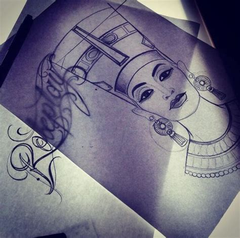 queen nefertiti tattoo designs nefertiti tattoo pinterest