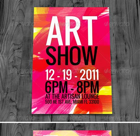 art show flyers templates images