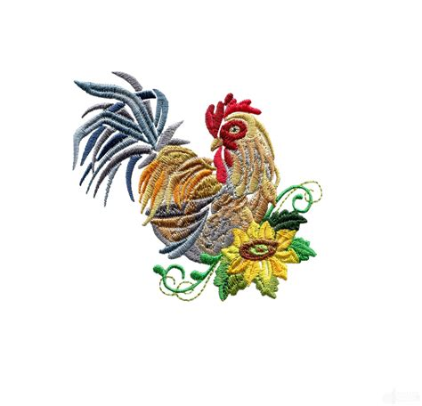 embroidery design rooster swnrr101 rooster embroidery design