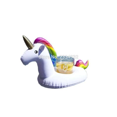 inflatable boat unicorn 2017 wholesale mini unicorn inflatable cup holder drink