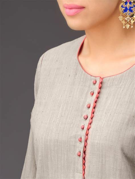 boat neck gala suit buy gargoyle grey peach panel khadi kurta online at