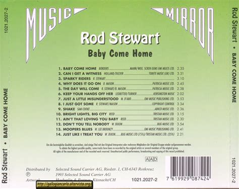 rod stewart quot baby come home quot cd ean 7619929087424