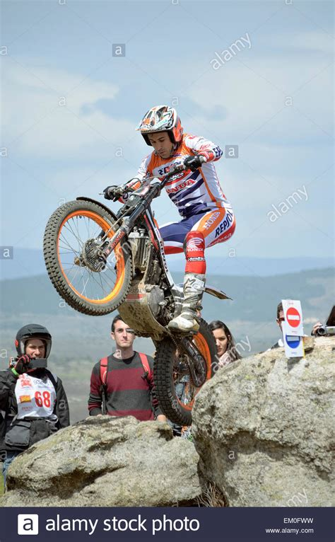 Motorrad Trial Meisterschaft by Spain Trial Chionship Unknown Stockfotos Spain