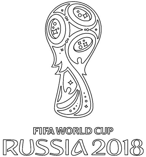 Free Coloring Page 2018 by Official Logo Of World Cup 2018 Coloring Page Free