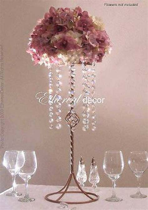 Diy Flower Centerpieces Tall For Weddings Related Posts Diy Chandelier Centerpiece