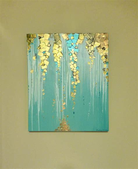 original moderne abstrakte malerei auf leinwand metallisch - Wohnzimmerwand Kunst
