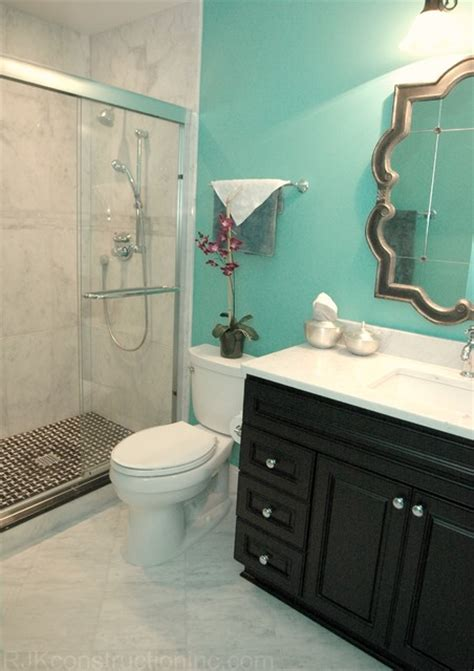 turquoise bathrooms turquoise guest bathroom eclectic bathroom other