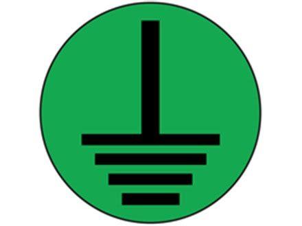 Fnd Labels Greeny earth symbol label black on green frl100 label source