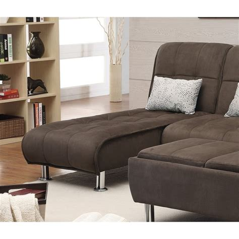 coaster chaise lounge coaster convertible chaise lounge in brown 300277