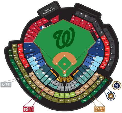 nationals park seating view washington nationals seating chart 9 washington