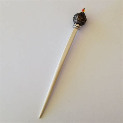 bead stick decorative beaded hair stick shawl stick white by