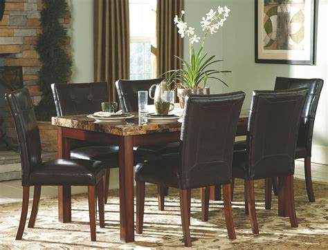 achillea faux marble rectangular dining room set from