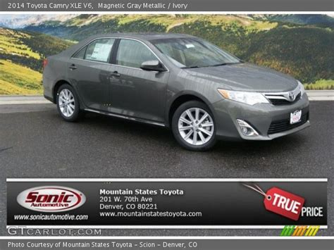 2014 Toyota Camry Xle V6 Magnetic Gray Metallic 2014 Toyota Camry Xle V6 Ivory