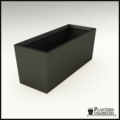 modern tapered fiberglass commercial planter 60in l x 24in