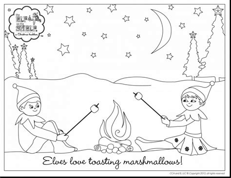 Download Coloring Pages Shelf Elf Coloring Page Shelf Elf On The Shelf Coloring Page Boy Free