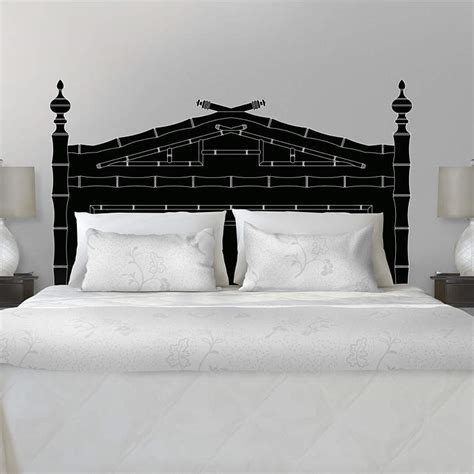 Martha Stewart Headboards by Classic Bamboo Headboard Wall Decal Shop Fathead 174 For Headboards Decor